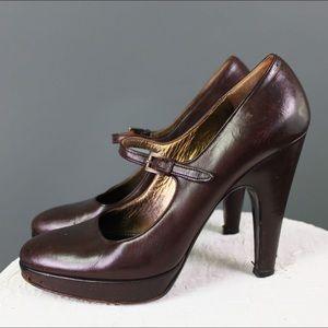 Gorgeous Prada Chocolate High Heel Platforms  Sz 8